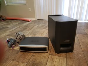 Bose 321 II system with reciever, subwoofer and 2 speakers for Sale in Sun City, AZ