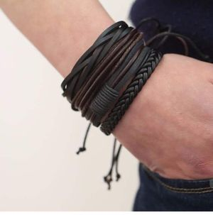 Handmade Bracelet Retro Style Leather Bracelet men Charm Jewelry $10 **Check out my page for other incredible offers Hablo español for Sale in Avondale, AZ
