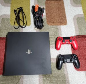 PS4 Pro 1TB with 2 controllers and aI 12FT 4K HDMI Monster Cable for Sale in Hartford, CT