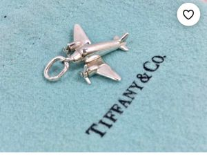 Fly Away With Me! Tiffany and Co Sterling Silver Airplane Charm .925 for Sale in Greenwich, CT