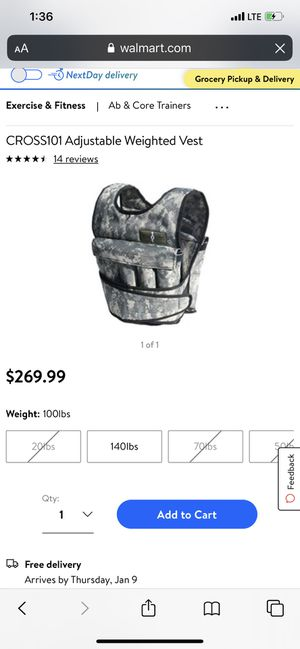 Cross101 adjustable weighted vest / run max adjustable weighted vest for Sale in Brockton, MA