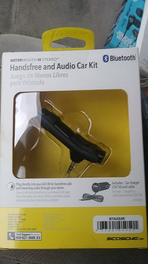Hands-free and Audio car kit Scosche bluetooth for Sale in Spokane, WA