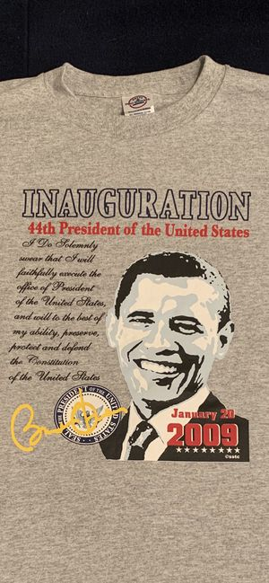 2009 president Obama Inauguration tee shirt. Includes his quote, his signature, the president seal and the date of the inauguration. for Sale in Centreville, VA