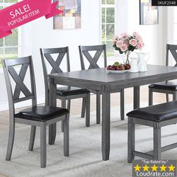 **BIG SALE** 6 Pcs Dining set Table + Chairs + Bench F2548 for Sale in Anaheim,  CA