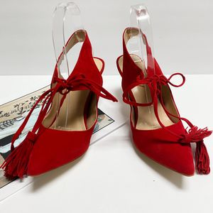 size 7 YDN Women Lace up Slingback Pointed Toe Med Heel Pumps Shoes for Sale in Las Vegas, NV