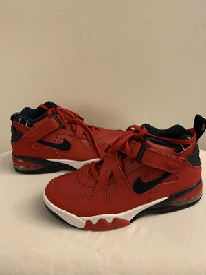 Nike Air Force Max CB Leather Basketball Shoes Red White Blue CJ0144-600 Mens size 8 for Sale in Diamond Bar, CA