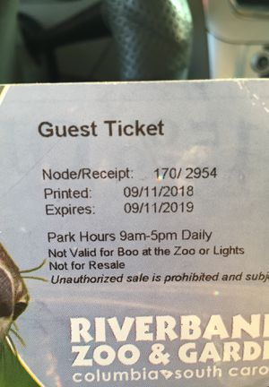 Zoo tickets for Sale in Columbia, SC
