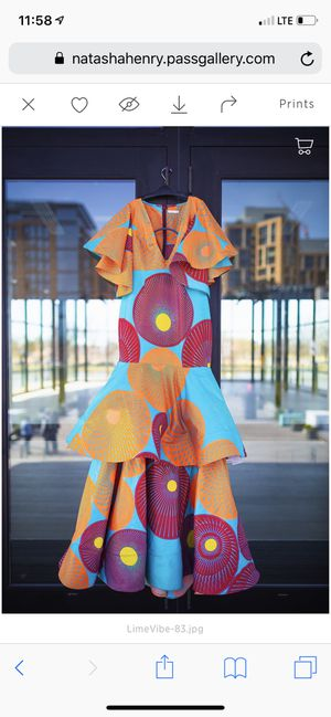 African Multicolored Couture Gown for Sale in Washington, DC