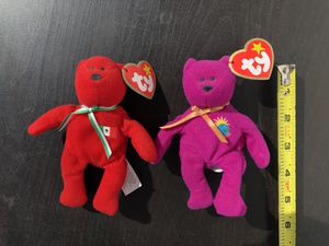 Two small bear beanie baby babies collectibles stuffed animals for Sale in San Mateo, CA
