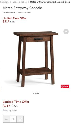 Pottery Barn Small Console Table for Sale in Seattle, WA
