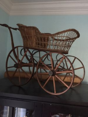 Antique doll carriage , wood wheels, very old $75. for Sale in Alexandria, VA