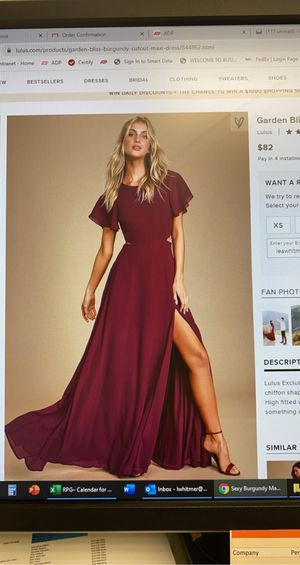Lulus Maroon Dress. Bridesmaids collection. Size medium. for Sale in Columbus, OH