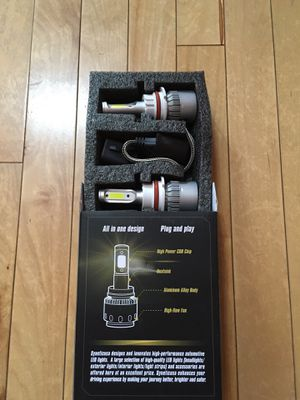 HB5 LED Light Set headlight conversion kit from halogen plug and play canbus lamp bulb HID for Sale in Gresham, OR