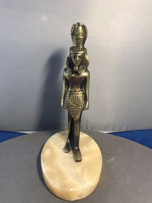 "vintage Bronze Egyptian man men statue marble golden collectible Egypt 7 1/2"" for Sale in Lauderhill, FL"