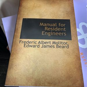 The Manuel For Resident Engineers Book for Sale in Pompano Beach, FL