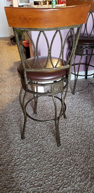 Linon O & X Back Metal Swivel Counter Stool for Sale in Quincy, MA