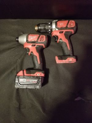 Milwaukee 18v brushless drill and impact for Sale in South San Francisco, CA