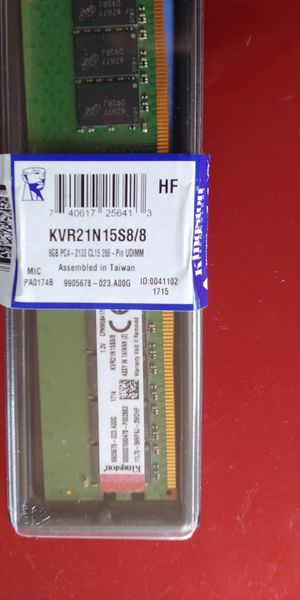 KINGSTON 8GB DDR4 ram 1×8 for Sale in Wakefield, MA