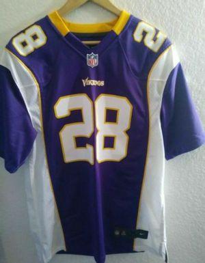 Nike Minnesota Vikings #28 Peterson jersey men size medium for Sale in Moreno Valley, CA