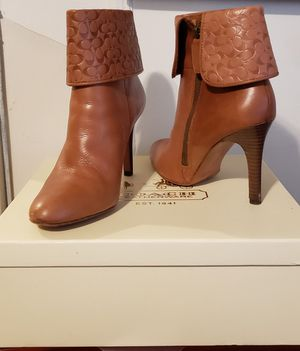 Coach Cognac Brown Leather Boots for Sale in Elizabeth, NJ