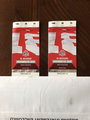 OSU - Michigan Football Tickets for Sale in Westerville, OH