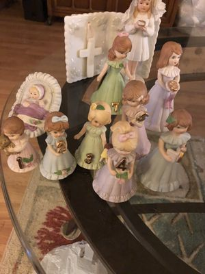 Enesco figurines growing up birthday girls baby -16. for Sale in Tampa, FL