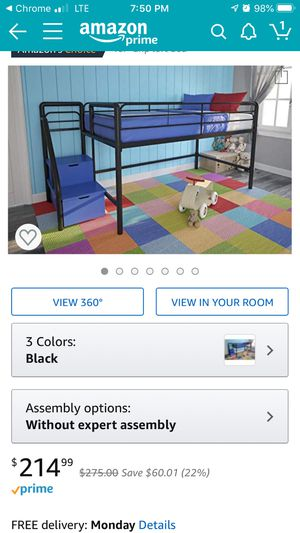 Jr loft bed with steps for Sale in Columbus, OH
