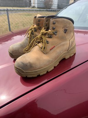 11 1/2 steel toe Leather boots for Sale in Columbus, OH