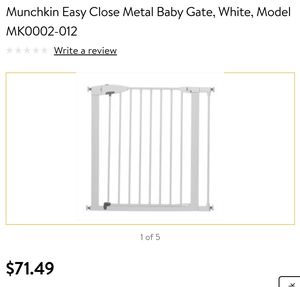 Munchkin easy close baby gate White for Sale in Puyallup, WA