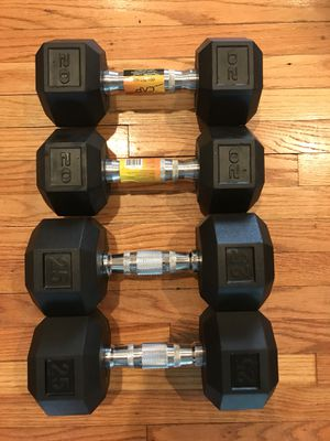 NEW Rubber Dumbbells (2x20s 2x25s) for $80 Firm!!! for Sale in Burbank, CA