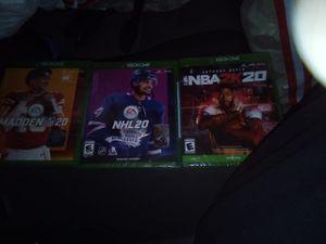 Xbox one games Madden 20, NBA 2K20, NHL 20, Rage 2, Gears 5, Kingdom Hearts 3 for Sale in Marysville, WA