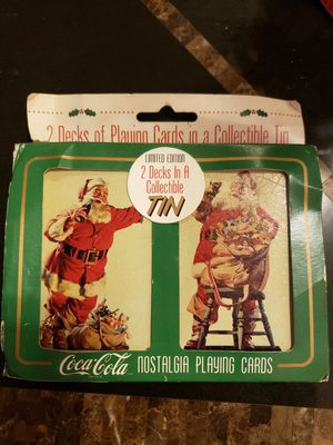 1995 Coca Cola Nostalgia Playing Cards in Collectible Tin for Sale in Washington, DC