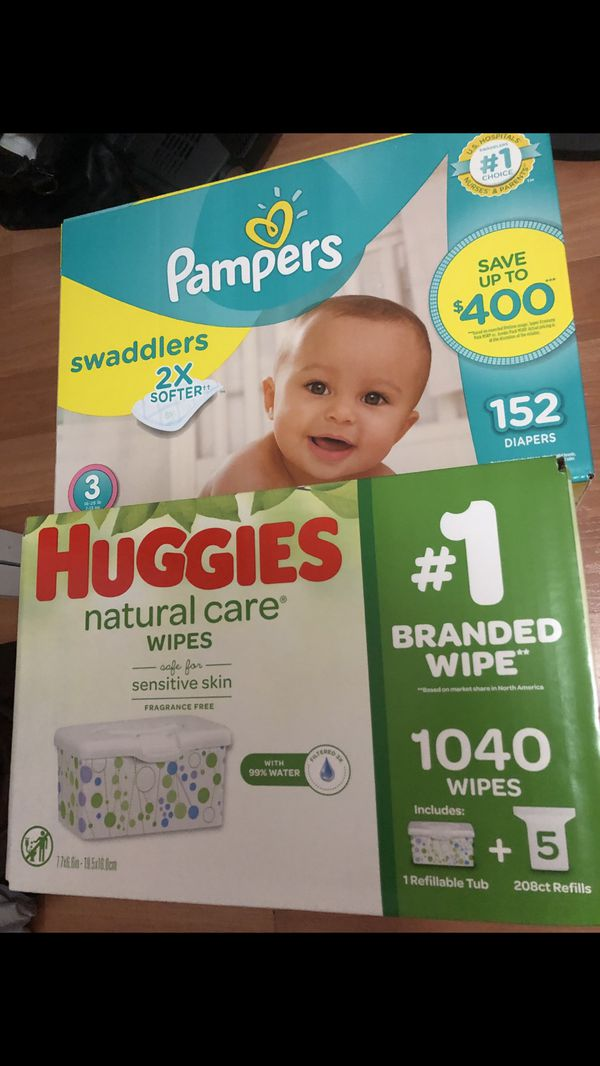 Pampers size 3 & Wipes