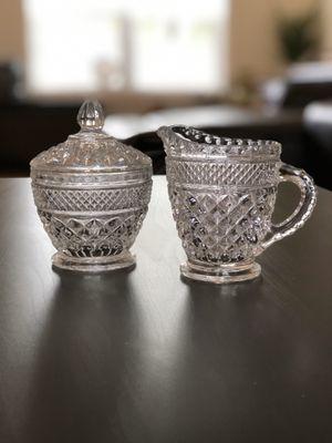 Vintage Crystal Sugar Bowl & Creamer Set - Excellent Condition! for Sale in Keizer, OR