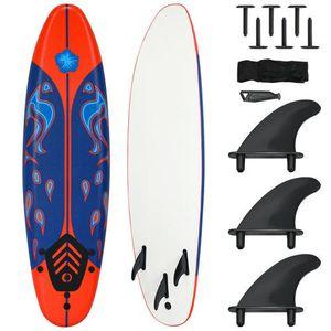 6' Surf Foamie Boards Surfing Beach Surfboard- Red for Sale in Whittier, CA