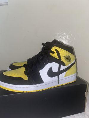 Jordan 1 Mid SE 'Yellow Toe' for Sale in Bakersfield, CA
