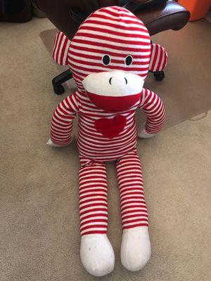 LARGE Sock monkey toy doll stuffed animal for Sale in Artesia, CA