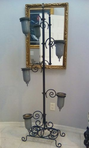 VINTAGE CANDLES HOLDER, 6' TALL, HEAVY DUTY SOLID IRON, PERFECT CONDITION for Sale in Orlando, FL