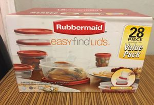 28 piece Rubbermaid easy find lids storage containers for Sale in Mission Viejo, CA