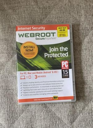 Webroot SecureAnywhere Internet Security for Sale in Alpharetta, GA