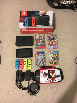 Big Nintendo switch bundle with games and accessories included for Sale in Saint Lawrence, SD