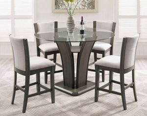 Camelia Gray Round Counter Height Set for Sale in MD, US