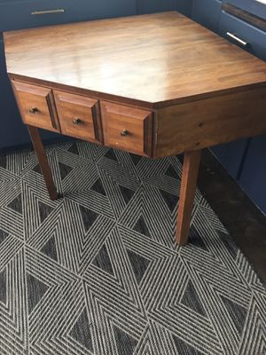 Corner table desk birch vintage for Sale in Long Beach, CA