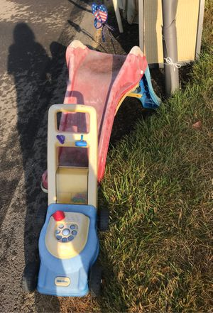 Free toddler slide & toy lawn mower at curb for Sale in Allison Park, PA