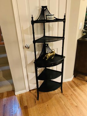 Art Deco Etagere Chippendale 5-Tier Corner Shelf for Sale in Redmond, WA
