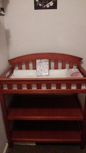 Baby changing table, with brand new changing matress and cover ..obo for Sale in San Leon, TX