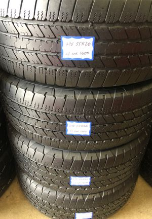 🦚SET OF 4 USED TIRES🦚 275/55/20 GOODYEAR •INSTALL/BALANCE INCLUDED• for Sale in Long Beach, CA