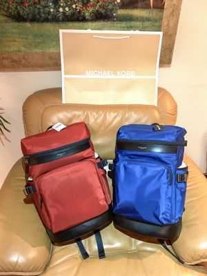 MK Michael Kors Kent Travel Backpack Bag (Available in Red & Blue) for Sale in Los Angeles, CA