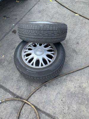 "15"" wheels and tires 5 universal for Sale in Los Angeles, CA"