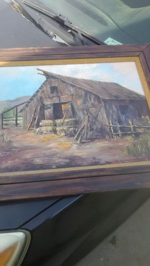 Beautiful wall hanging picture old barn for Sale in Visalia, CA